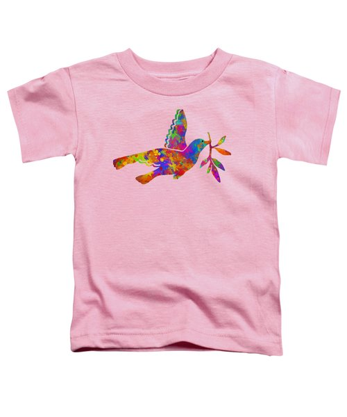 Dove With Olive Branch Toddler T-Shirt by Christina Rollo
