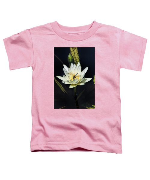 Dragon Fly On Lily Toddler T-Shirt