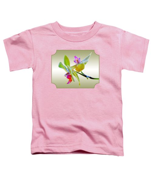 Dragon Glow Orchid Toddler T-Shirt by Gill Billington