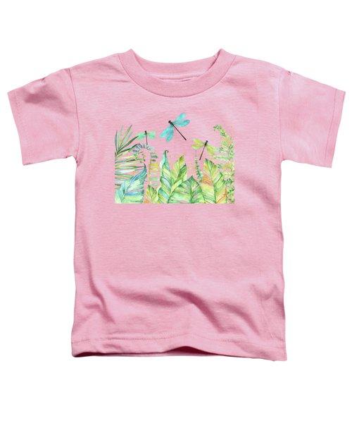 Dragonfly Garden Tropical Jungle Plants Dragonflies Toddler T-Shirt