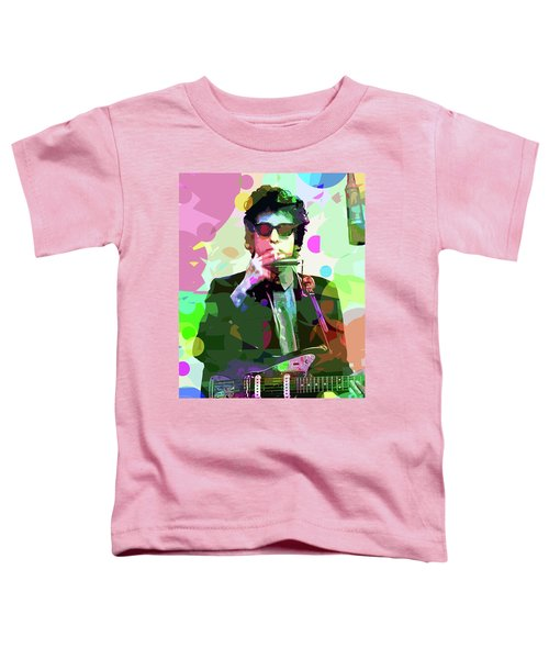 Dylan In Studio Toddler T-Shirt by David Lloyd Glover