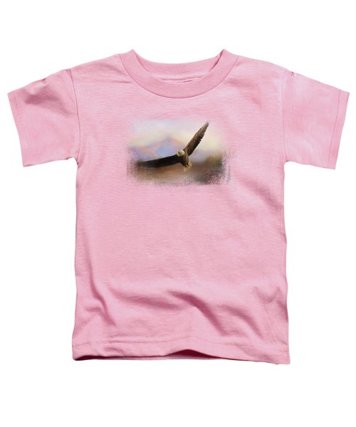 Eagle At The Mountain Toddler T-Shirt by Jai Johnson