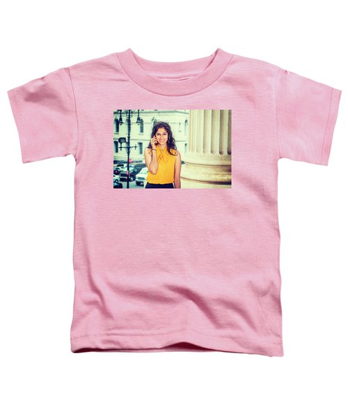East Indian Woman Calling Outside Toddler T-Shirt