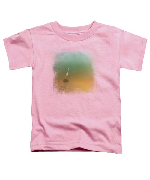 Egret At Sea Toddler T-Shirt by Jai Johnson