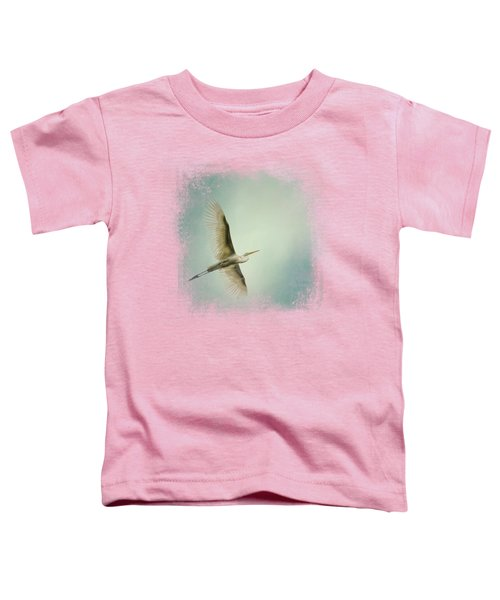 Egret Overhead Toddler T-Shirt by Jai Johnson