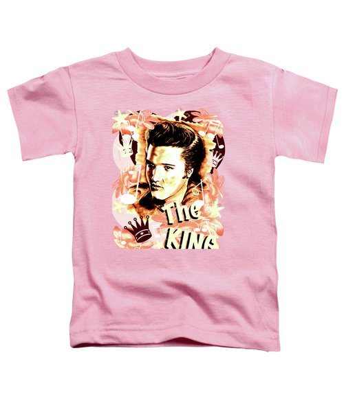 Elvis The King In Salmon Red Toddler T-Shirt by Gitta Glaeser