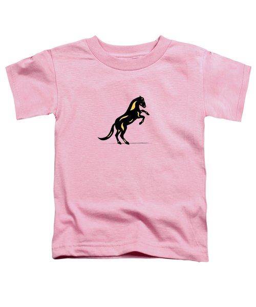 Emma II - Pop Art Horse - Black, Primrose Yellow, Pink Toddler T-Shirt