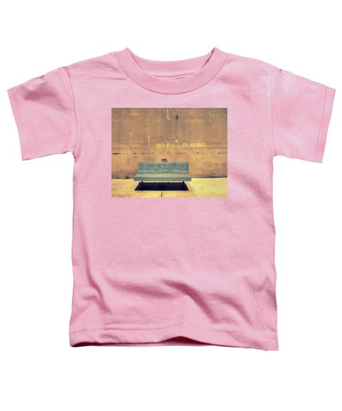 Empty Bench And Warning Toddler T-Shirt