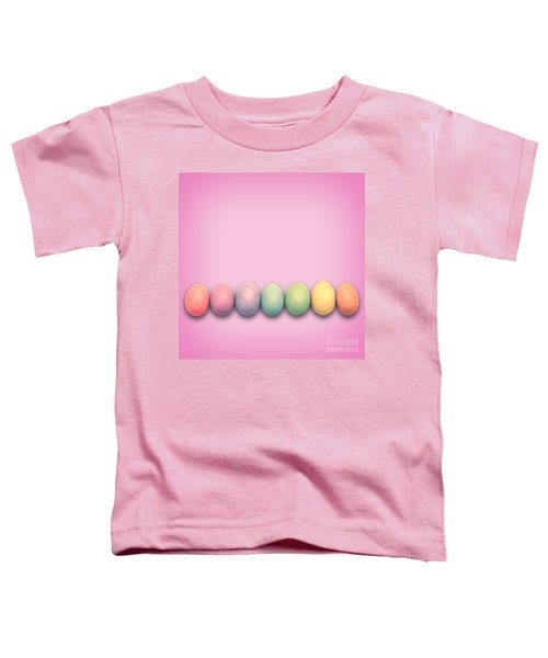 Easter Eggs, Pink Toddler T-Shirt