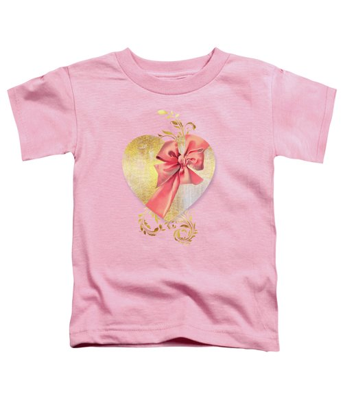 Eternal Heart, Wrapped In A Bow, Valentines Day Art Toddler T-Shirt