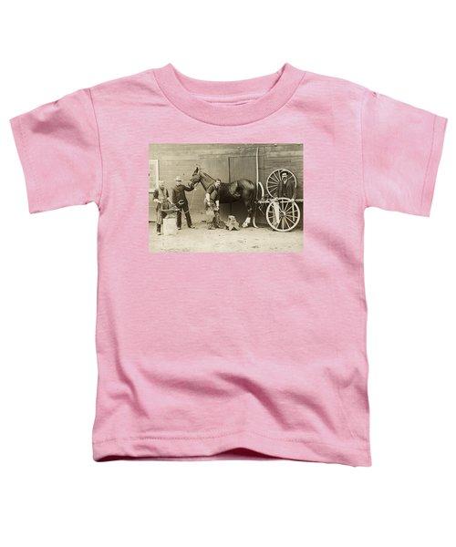 Farrier Shoeing A Horse Toddler T-Shirt