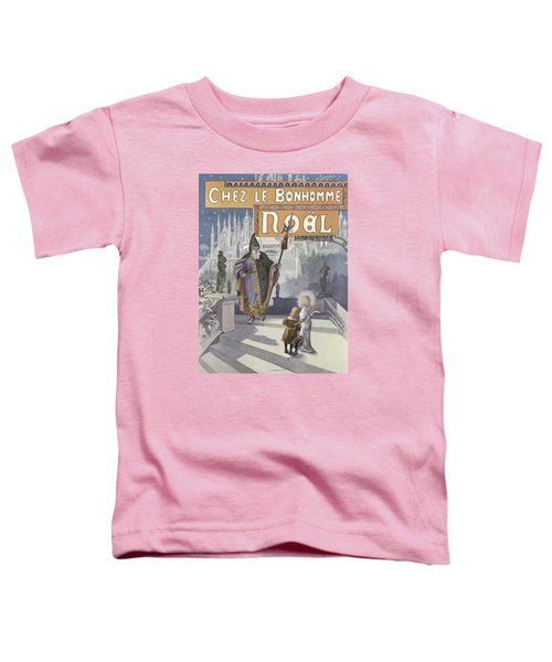 Father Christmas Meeting A Young Child Who Is Accompanied By An Angel Toddler T-Shirt