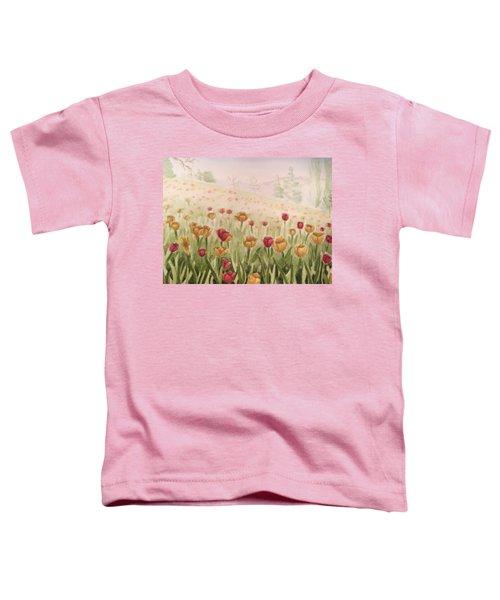 Field Of Tulips Toddler T-Shirt by Kayla Jimenez