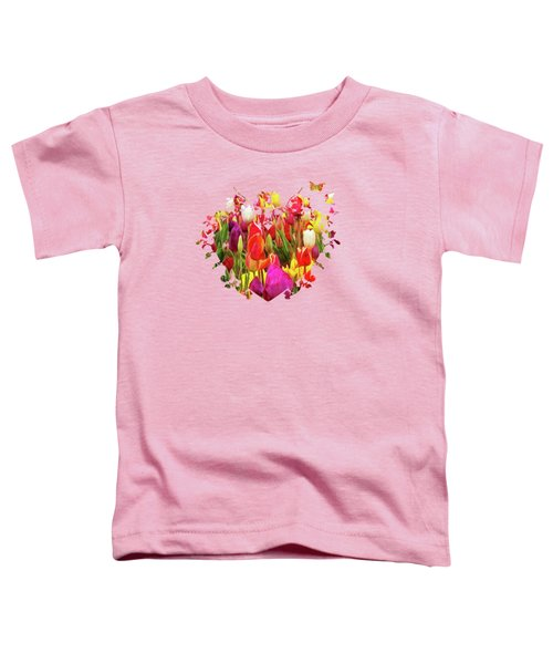 Field Of Tulips Toddler T-Shirt by Thom Zehrfeld