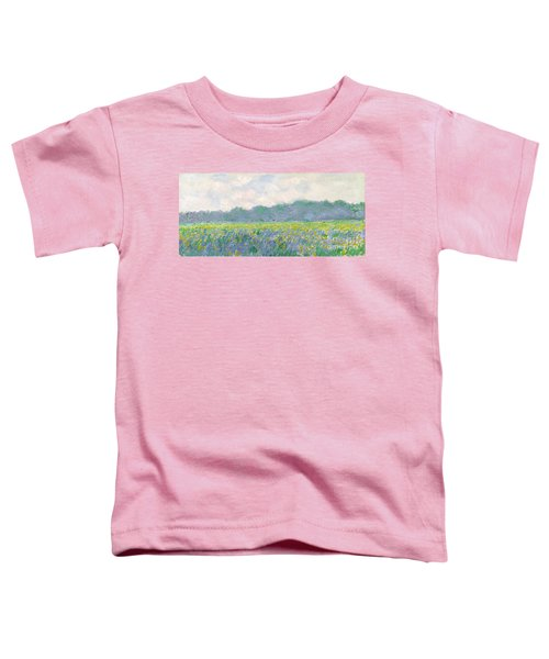 Field Of Yellow Irises At Giverny Toddler T-Shirt