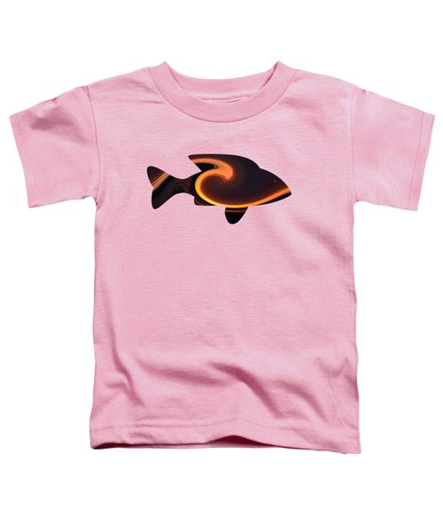 Fiery Wave Fish Toddler T-Shirt
