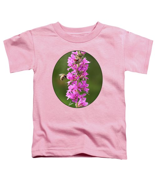 Final Approach - Bee On Purple Loosestrife Toddler T-Shirt