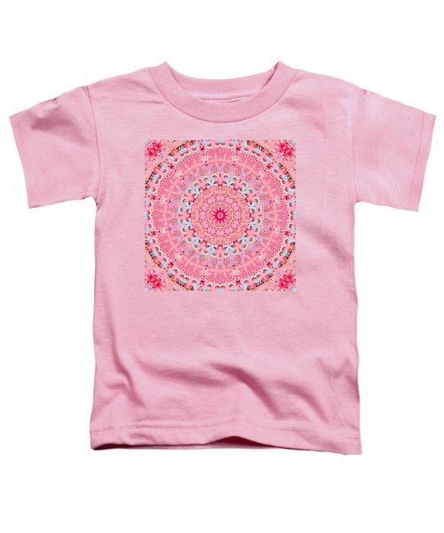 Toddler T-Shirt featuring the digital art Fine China Kaleidoscope by Joy McKenzie