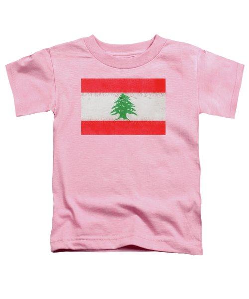 Flag Of Lebanon Grunge Toddler T-Shirt