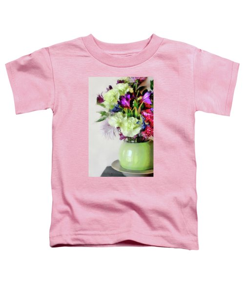 Floral Bouquet In Green Toddler T-Shirt