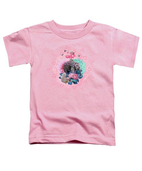 Floral Elephant Toddler T-Shirt