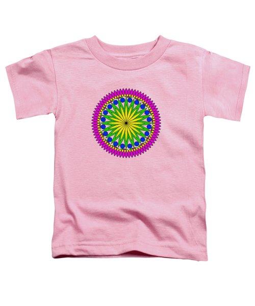 Flower Mandala By Kaye Menner Toddler T-Shirt by Kaye Menner