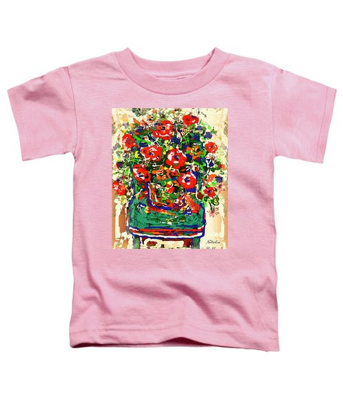 Flowers On Green Chair Toddler T-Shirt