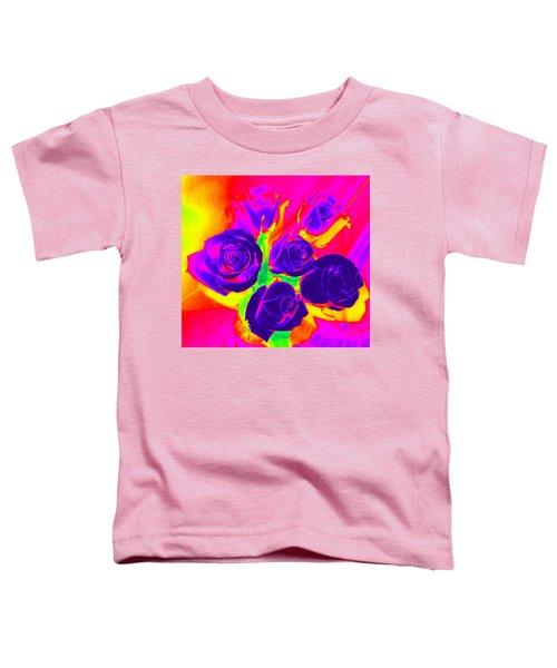 Fluorescent Roses Toddler T-Shirt