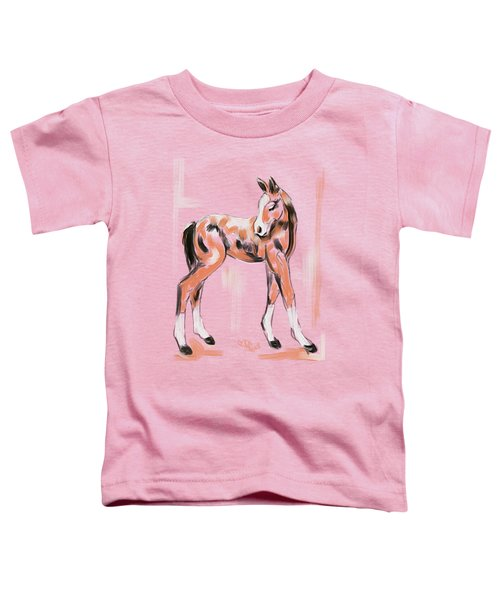Foal Peach Toddler T-Shirt