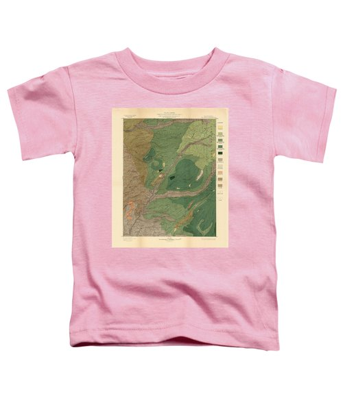 Forest Cover Map 1886-87 - Big Trees Quadrangle - California - Geological Map Toddler T-Shirt