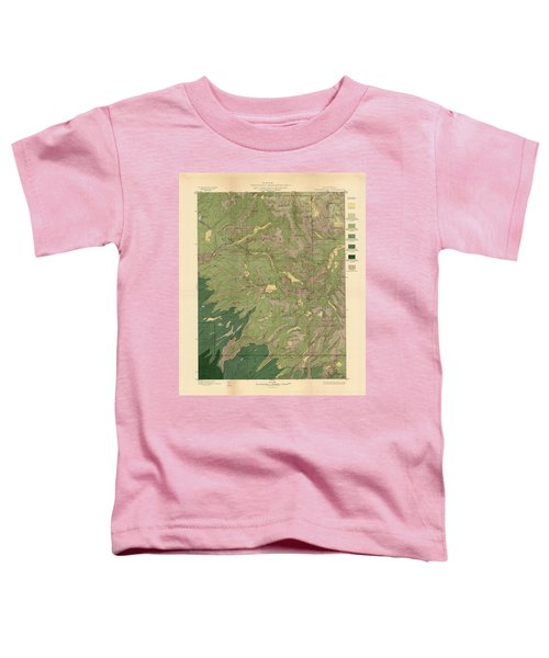 Forest Cover Map 1886-87 - Dardanelles Quadrangle - California - Geological Map Toddler T-Shirt