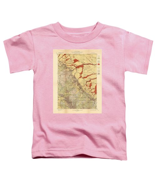 Forest Cover Map 1886-87 - Dayton Quadrangle - Wyoming - Geological Map Toddler T-Shirt