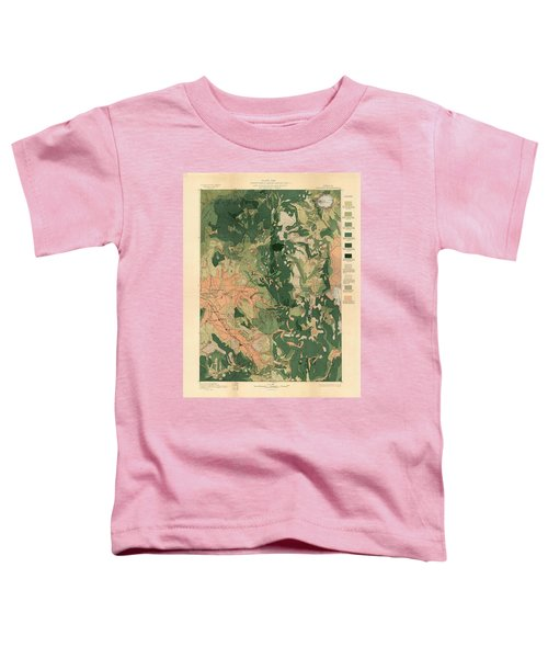 Forest Cover Map 1886-87 - Oregon Ashland Quadrangle - Geological Map Toddler T-Shirt