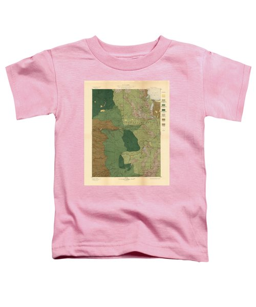 Forest Cover Map 1886-87 - Pyramid Peak Quadrangle - California - Geological Map Toddler T-Shirt