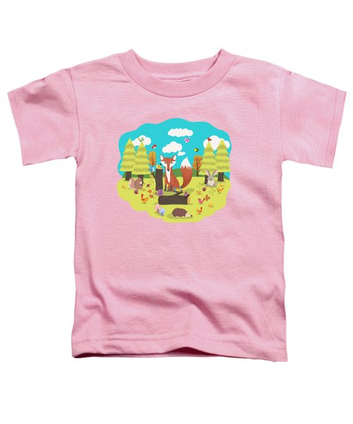 Forest Friends Fall Frolic Toddler T-Shirt
