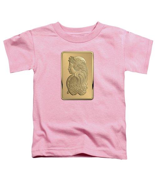 Fortuna Suisse Minted Gold Bar - Obverse Toddler T-Shirt