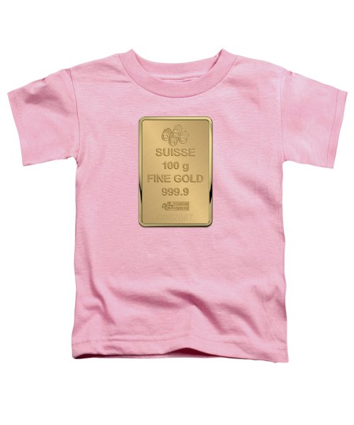 Fortuna Suisse Minted Gold Bar - Reverse Toddler T-Shirt