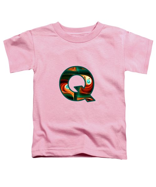 Fractal - Alphabet - Q Is For Quizzical Toddler T-Shirt