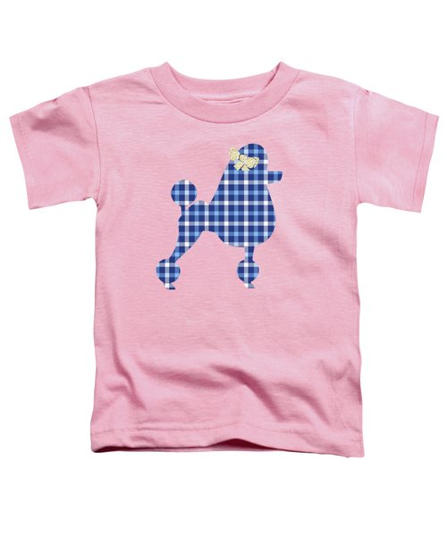 Toddler T-Shirt featuring the mixed media French Poodle Plaid by Christina Rollo