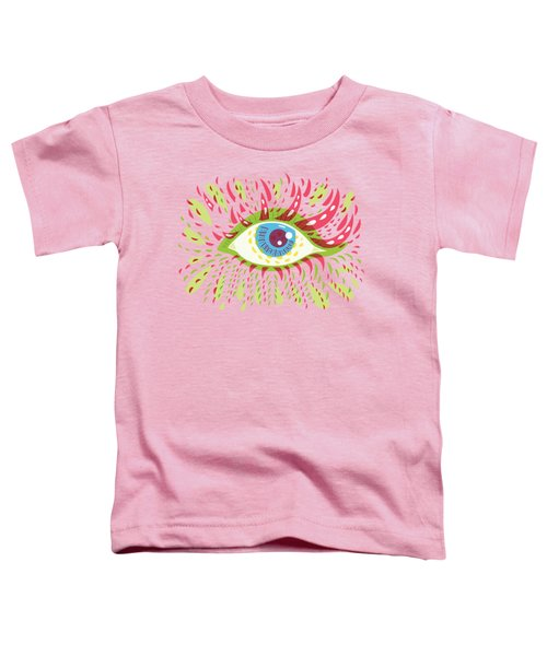 From Looking Psychedelic Eye Toddler T-Shirt