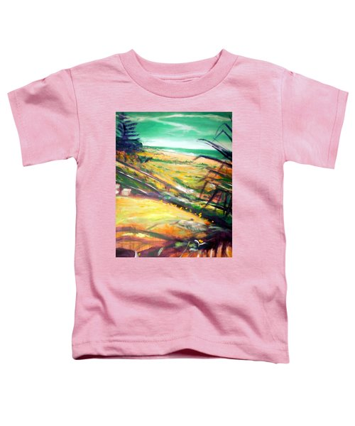 Toddler T-Shirt featuring the painting From The Lawn Pandanus by Winsome Gunning