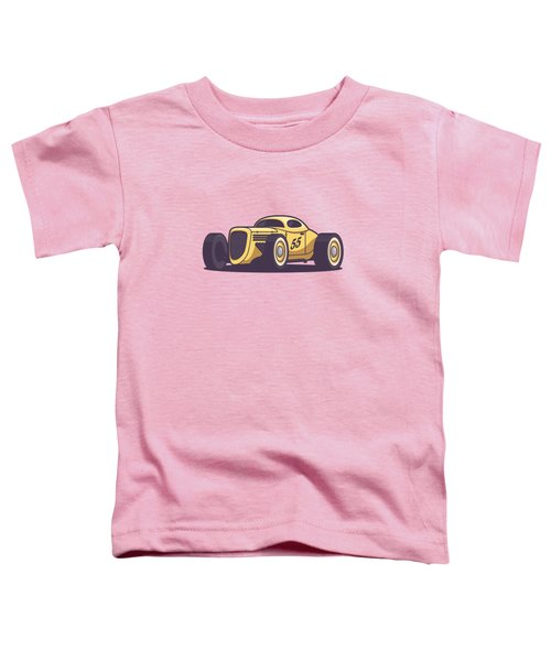 Gaz Gl1 Custom Vintage Hot Rod Classic Street Racer Car - Yellow Toddler T-Shirt
