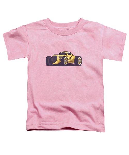 Gaz Gl1 Custom Vintage Hot Rod Classic Street Racer Car - Yellow Toddler T-Shirt