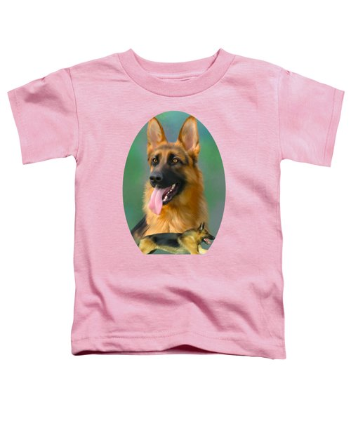 German Shepherd Breed Art Toddler T-Shirt