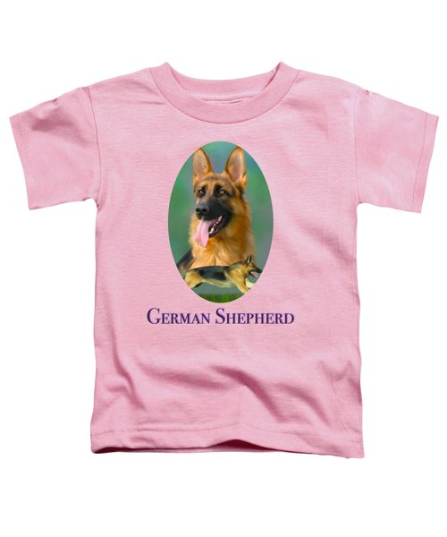 German Shepherd With Name Logo Toddler T-Shirt
