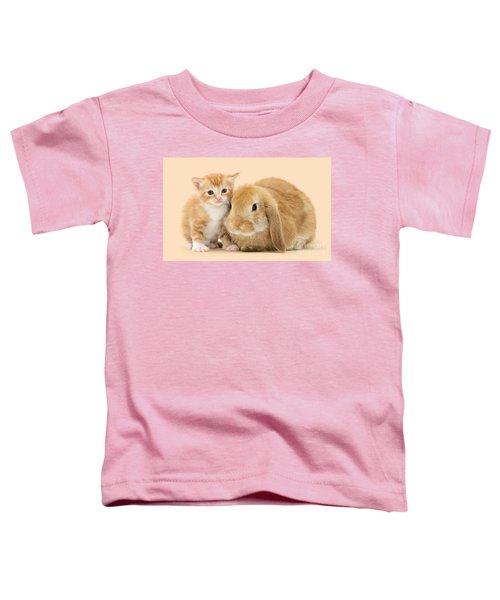 Ginger Kitten And Sandy Bunny Toddler T-Shirt