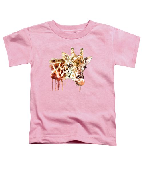 Giraffe Head Toddler T-Shirt by Marian Voicu