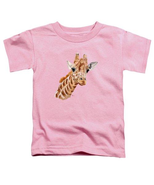 Giraffe Portrait Toddler T-Shirt
