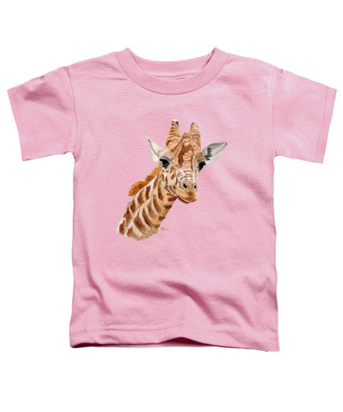 Giraffe Portrait Toddler T-Shirt