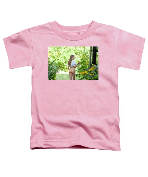 Girl In Swedish Garden Toddler T-Shirt